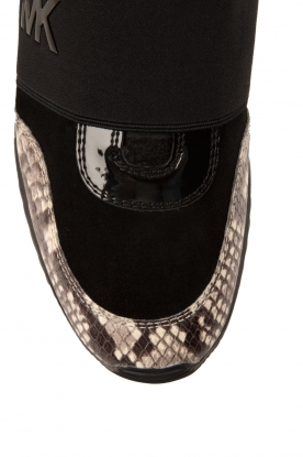 Leather sneakers Lux | black/snake print