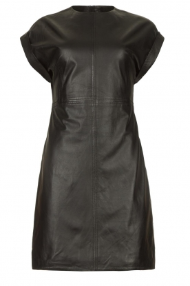 Ibana |  Leather dress Deborah | black