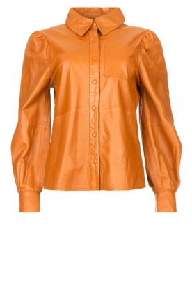 Ibana |  Leather blouse Talia Camel
