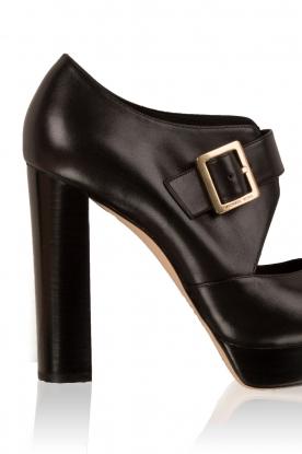 MICHAEL Michael Kors | Leren platform sandalen Eleni | zwart