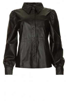 Ibana | Leather blouse Talia | black