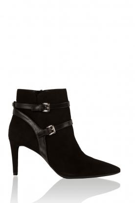 MICHAEL Michael Kors   Leren enkellaarzen Fawn   Zwart, Leather ankle boots Fawn   Blac