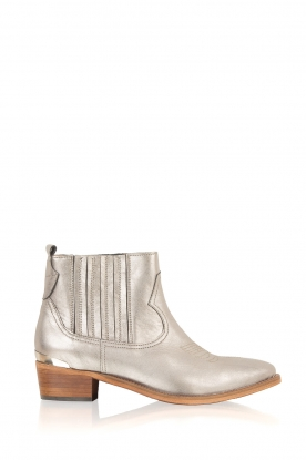 Catarina Martins |  leather ankle boots Chase Chelsea | silver