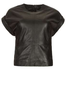 Ibana | Leather top Tana | black