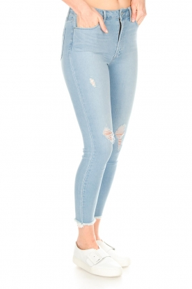 Articles of Society | High-rise jeans Heather Liverpool | blauw