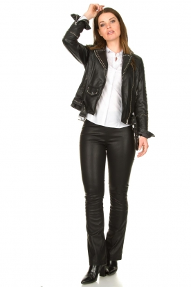Look Studded leather biker jacket Barbara