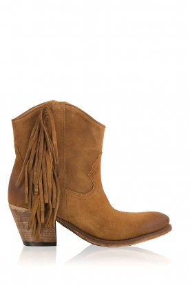 Catarina Martins |  Suede ankle boots Tulum Velourk | camel