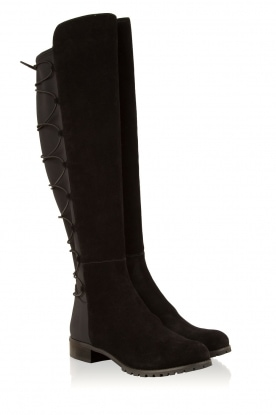 MICHAEL Michael Kors | Suede over-the-knee laars Skye | zwart
