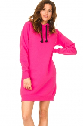 Blaumax |  Hooded sweater dress Harlem | pink
