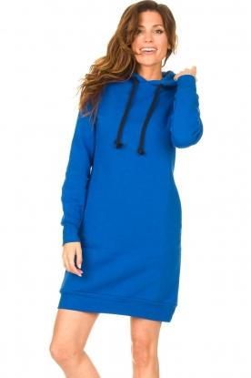 Blaumax |  Hooded sweater dress Harlem | blue