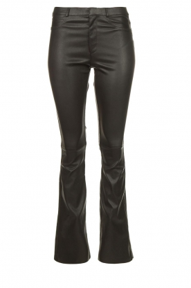 Ibana | Leather flared pants Pearl | black