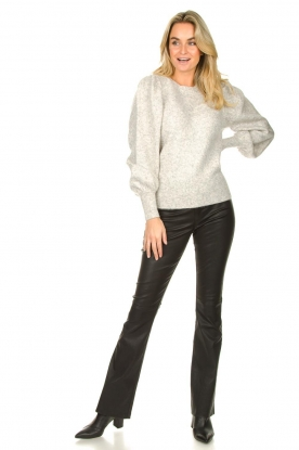 Look Leather flared pants Pearl