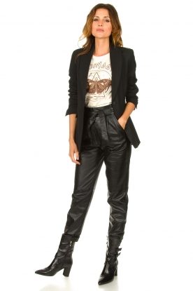 Ibana |  Leather pants Paula | black
