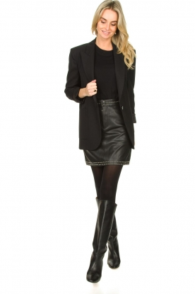 Look Studded leather skirt Sharon