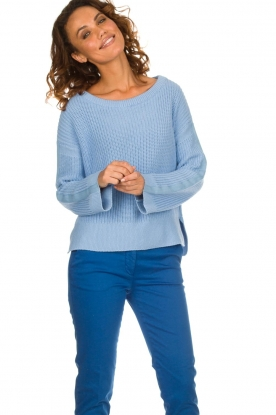 Be Pure |  Sweater Roos | blue