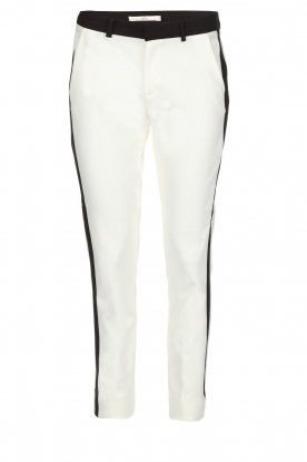 Aaiko | Pantalon Parini | zwartwit