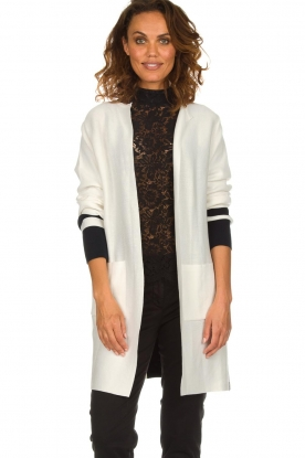 Be Pure |  Cotton cardigan Roxanne | white