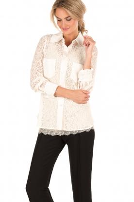 Tara Jarmon | Kanten blouse Jaela | wit