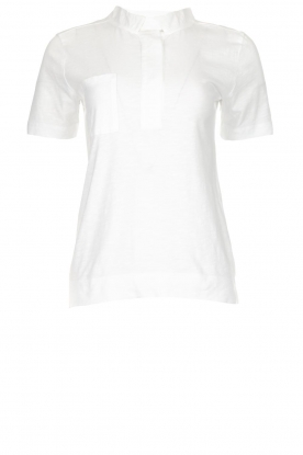 Be Pure |  Cotton polo T-shirt Merel | white