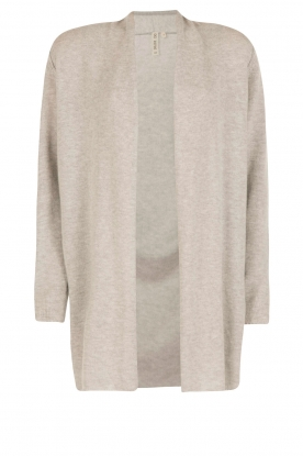 Knit-ted |  Fine knitted cardigan Macha | grey