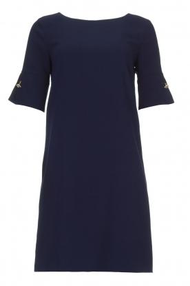 Atos Lombardini |  Straight loose fit dress Manou | blue