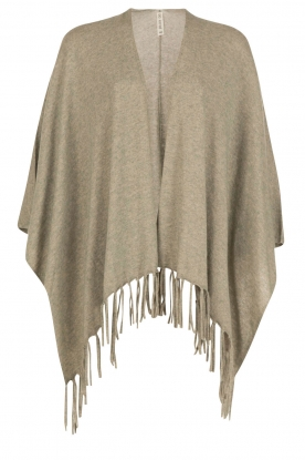 Knit-ted |  Fine knitted poncho Noor | green