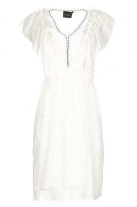 Atos Lombardini |  Dress with ruffles Angelina | white