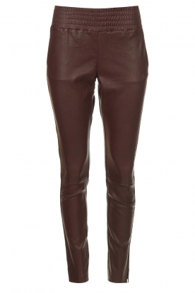 Ibana |  Stretch leather pants Colette | bordeaux