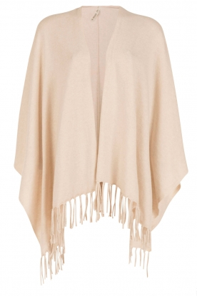Knit-ted |  Fine knitted poncho Noor | sand