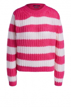 Set | Striped knitted sweater Star | pink