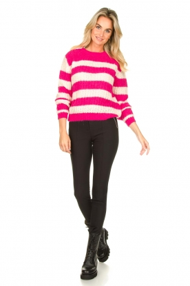 Look Striped knitted sweater Star