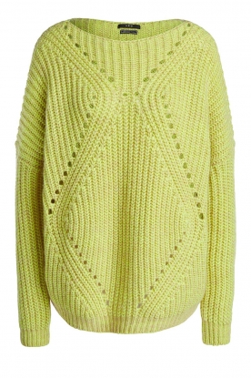 Set | Heavy knitted sweater Bejo | yellow