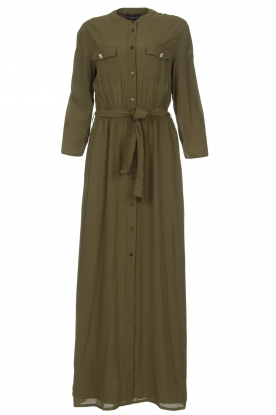 Atos Lombardini |  Maxi dress with shimmering buttons Mindi | green
