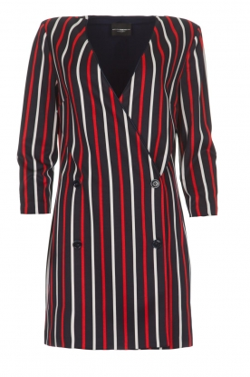 Atos Lombardini |  Striped blazer dress Cassie | blue