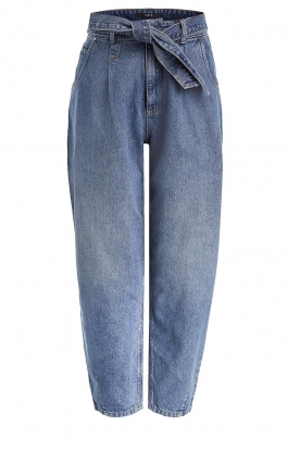 Set |  Baggy paperbag jeans Bowie | blue