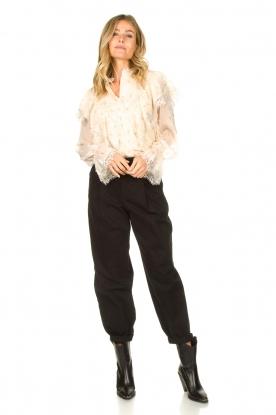 Set |  Baggy pants Gummy | black