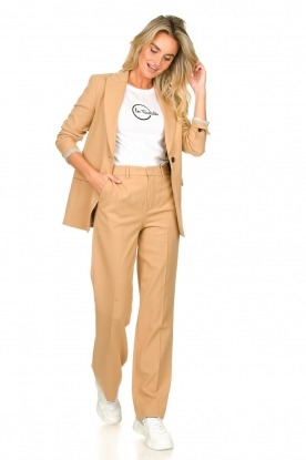Set |  Straight trousers Trixie | camel