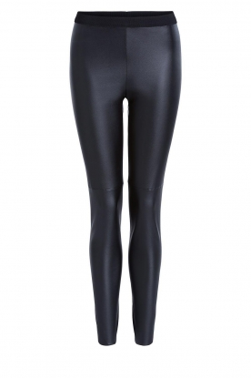 Set |  Faux leather leggings Nadja | black