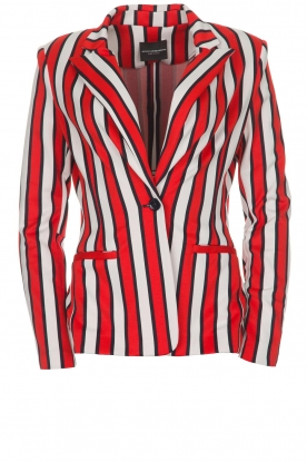 Atos Lombardini |  Striped blazer Elina | red