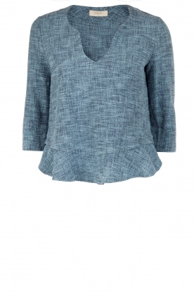 ba&sh | Top Barry | blauw