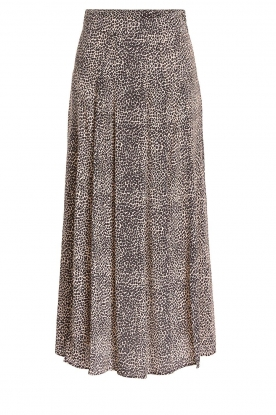 Set |  Animal printed maxi skirt Mizzy | black