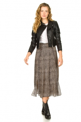 Set    Animal printed maxi skirt Mizzy   black