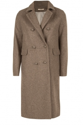 Sessun |  Double breasted coat Uptown Girl | sand