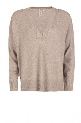 Knit-ted |  FIne knitted sweater Maan | grey