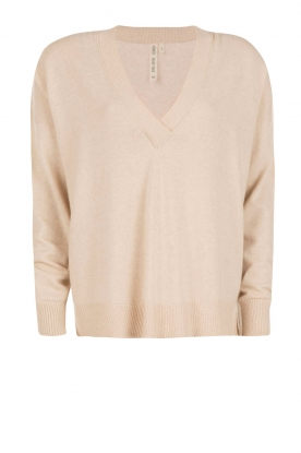 Knit-ted |  Fine knitted sweater Maan | beige
