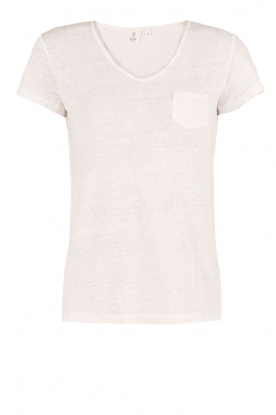 Knit-ted | Linnen T-shirt Kate | Wit
