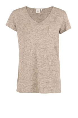 Knit-ted | Linnen T-shirt Kate | Grijs
