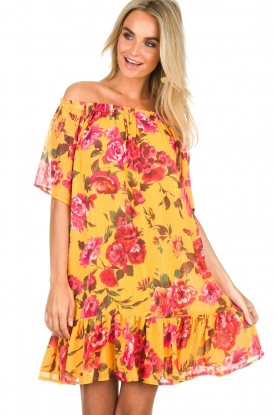 Hipanema | Off-shoulder Jurk Rolly | geel