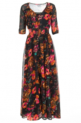 Hipanema |  Flower print maxi-dress Ravy | black