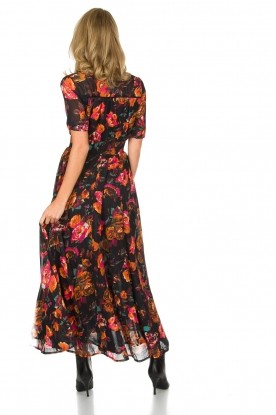 Hipanema | Bloemenprint maxi-jurk Ravy | zwart